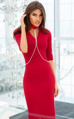 Горловина платья отделанная бусинками фото 6