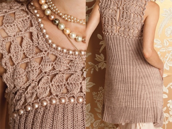 Как украсить вязаное платье своими руками фото фото 235