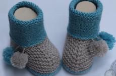 Как связать пинетки спицами для новорожденных начинающим?