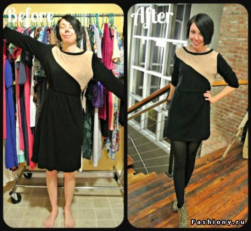 Как ушить платье фото до и после
