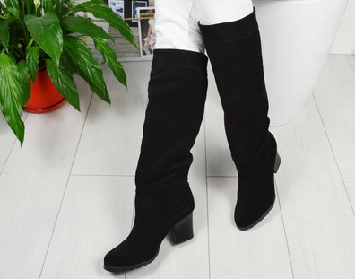 как почистить черные замшевые сапоги