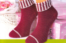 Как связать носки крючком пошагово (со схемами)