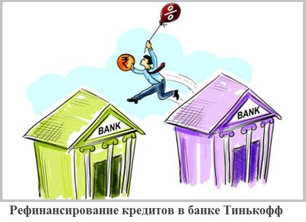 рефинансирование кредита в Тинькофф банке физическому лицу
