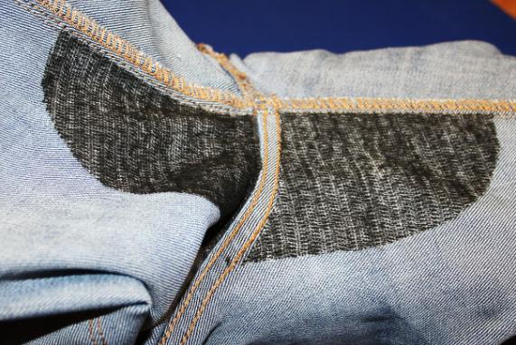 Потерлись джинсы между ног как зашить
