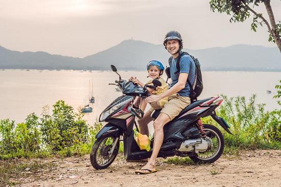 Штраф за ребенка на скутере